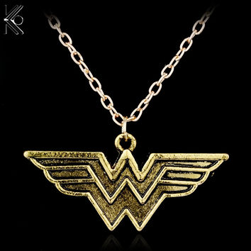 Wonder Woman Pendant Gold Necklace