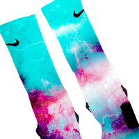 Hornets Storm Customized Nike Elite Socks