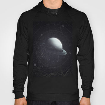 Space Sound Waves Hoody by DuckyB (Brandi)