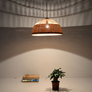 Bamboo and Wood ceiling lamp - lamp set - Love Nature