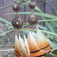 Boho Feather Earrings #H1017