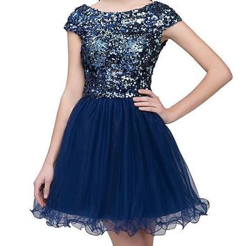 eDressit Women's Short Homecoming Dress Tulle Sequin Prom Party Gowns
