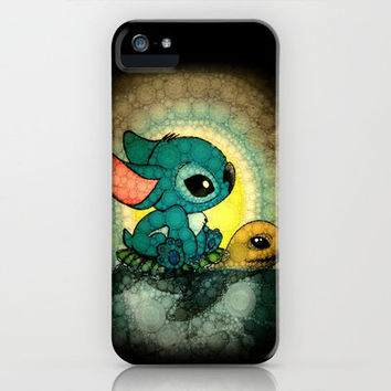 Swimming Stitch iPhone Case by Alohalani | Society6