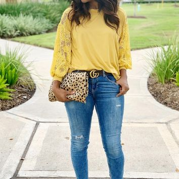 Lucy Lace Statement Sleeve Blouse