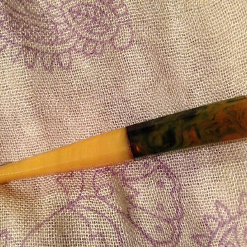 Green Marbled Bakelite  Cigarette Holder Vintage