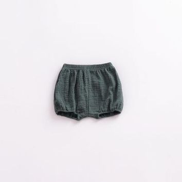 Hot Shorts Summer Baby Chiffon Fashion Casual Large PP  Infant Solid Color Cotton Linen Bloomers Toddler Girls Bread Pants ClothsAT_43_3