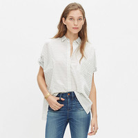 Grid-Mix Short-Sleeve Shirt