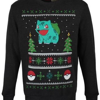 Pokemon Bulbasaur Men's Christmas Jumper