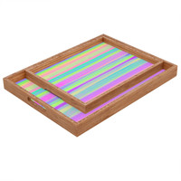 Rebecca Allen A Thousand Stripes I Love You Rectangular Tray
