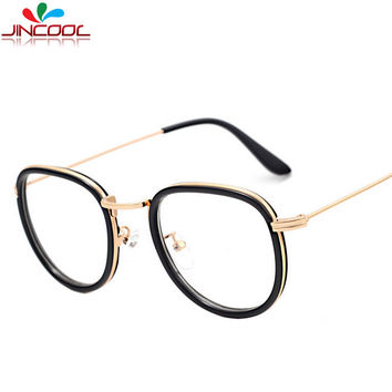 JinCool 2016 Fashion Computer Glasses Women Men Vintage Eyeglasses Optical Frames Eye glasses Myopic Frame UV400 Oculos de grau