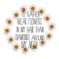 I'd rather wear flowers in my hair Art Print by Sara Eshak