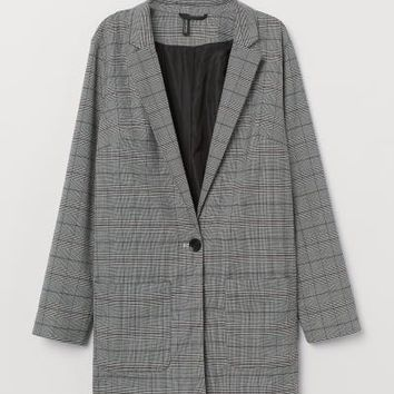 Checked Jacket - Gray/checked - | H&M US