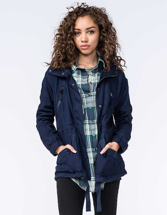 a87643ee Ashley Ray Womens Anorak Jacket Navy In from Tilly's | Epic