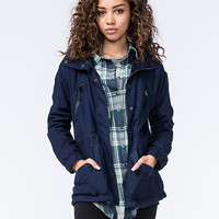 Ashley Ray Womens Anorak Jacket Navy  In Sizes