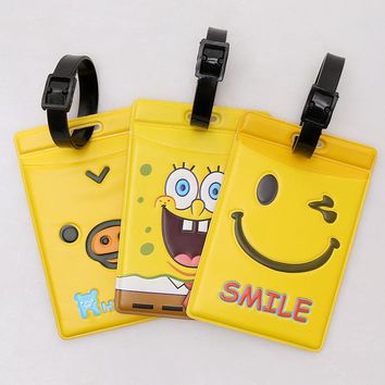 Beautiful yellow  luggage tag Bus card set,Bag Parts & Accessories for Travel,3 color for choose