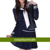 Deep Blue Long Sleeves Sailor School Uniform Cosplay Costume [TWL110840023] - $79.28 : Cosplay, Cosplay Costumes, Lolita Dress, Sweet Lolita