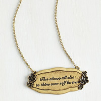 Scholastic That Polonius Guy Necklace by ModCloth
