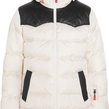 Perfect Moment - Pirtuk leather-paneled shell down ski jacket