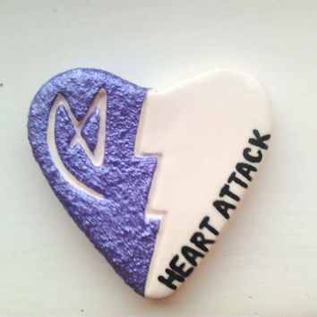 "Ceramic ""LOVATIC HEART PENDANT"" -- NewZealandMade"