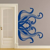 Octopus Wall Decal Tentacles Vinyl Sticker Decals Kraken Octopus Fish Deep Sea Scuba Ocean Animals Bathroom Home Decor Nautical Bedroom x257