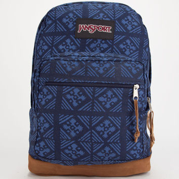Jansport Right Pack Backpack Blue Indigo Adire One Size For Men 25742821201
