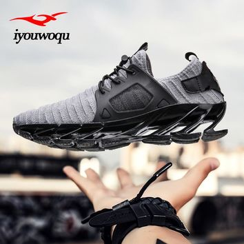 Outdoor sports shoes 2017 New design blade Men running shoes Breathable cushioning sneakers men athletic shoes