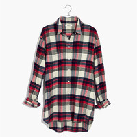 Oversized Ex-Boyfriend Shirt in Baker Plaid : shopmadewell button-up & popover shirts | Madewell