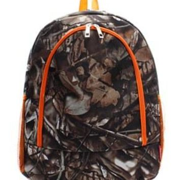 Camo Print Backpack - 2 Color Choices