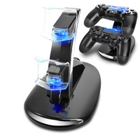 Leegoal Dual Usb Charging Charger Docking Station Stand For Ps4 Controller Black