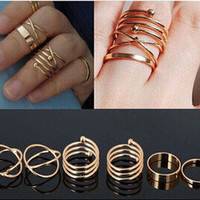 New Arrival Stylish Shiny Jewelry Gift Korean Accessory Vintage 6-pcs Ring [6586078919]