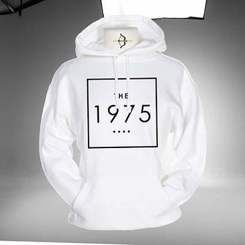 The 1975 Logo Hoodie Grey and White Color Unisex Hoodies