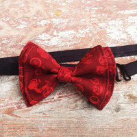 Motorcycle Madness Adjustable Strap Bow Tie Adult