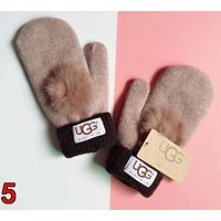 UGG Winter Fashionable Woman Men Cute Knit Gloves