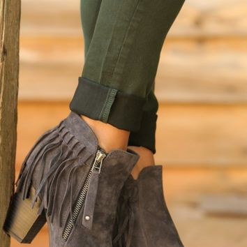 Cute From Head To Toe Booties-Grey