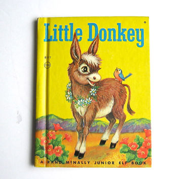 "Vintage Junior Elf Book - ""Little Donkey"" - Rand McNally - Illustrated - Children's Book"