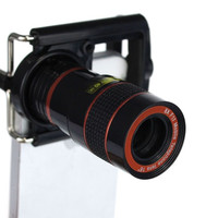 Universal Mobile Phone Lens Camera with Holder for iPhone5 5S 5C 6 Samsung Galaxy HTC Nokia