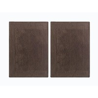 Benzara CHN-CHB019-3 Splendor Reversible Step Out Bath Mat Rug Set-Dark Brown
