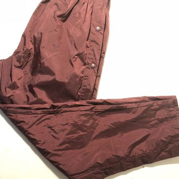 Vintage 90s CHAMPION Maroon Windbreaker Pants Break Away Mens Sz Medium EUC Vtg