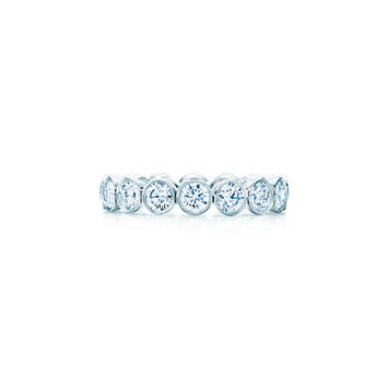 Tiffany & Co. - Tiffany Jazz™ band ring in platinum with diamonds.