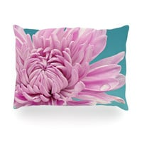 "Nastasia Cook ""Purple Dream"" Pink Flower Oblong Pillow"