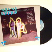 Vinyl Soundtrack LP Miami Vice Music From the Television Series Chaka Khan Phil Collins Tina Turner