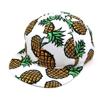 DCCKL3Z Brands Fruit Printing Pattern Men Women Casuals Hat Hats Baseball Cap Fashion trends Snapback Caps Hat Beach Wind Style