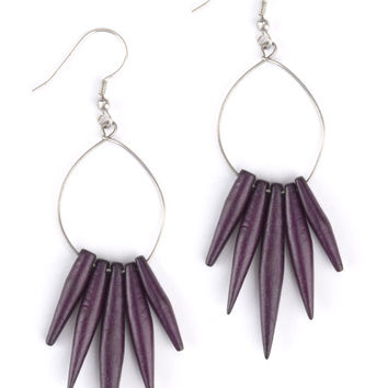 Quill Earrings - Purple