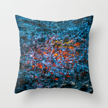 Water Color - Orange Throw Pillow by Digital2real