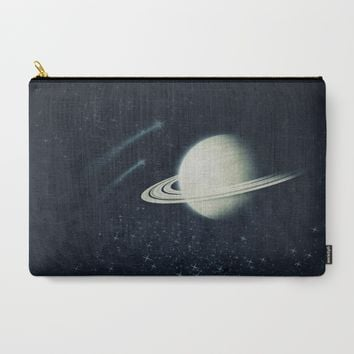 Deep Blue Space Carry-All Pouch by Ducky B