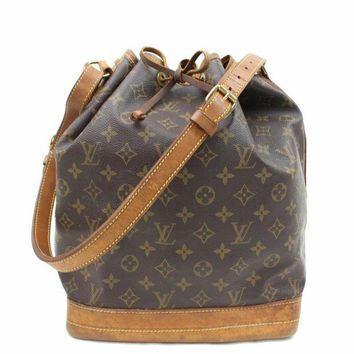 DCCKHI2 Authentic Louis Vuitton Shoulder Bag Noe M42224 Browns Monogram 16917