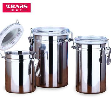 Stainless steel storage sealed cans dried fruit coffee milk powder tea snacks storage tank bottle kitchen supplies