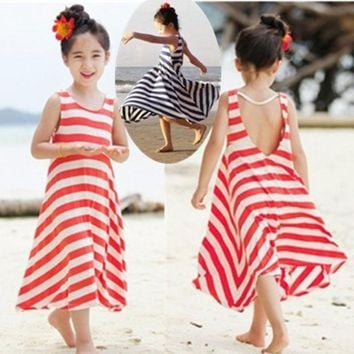 CREYUG3 Fashion Girls Chevron Dresses Bohemian Next Baby Girls Kids cotton beach Dress children clothing summer autumn new 2013 Brand