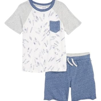 Splendid Surfboard T-Shirt & Shorts Set (Little Boys) | Nordstrom