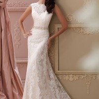 Schiffli Lace Gown by David Tutera